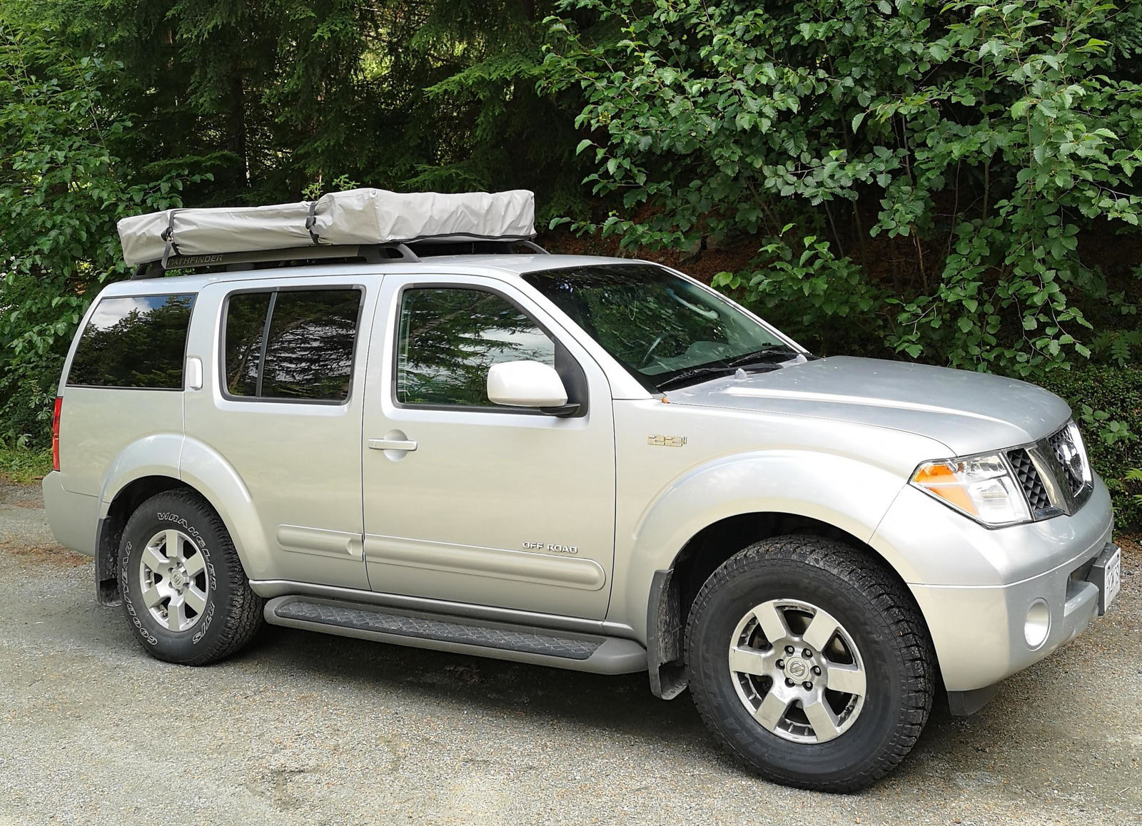 SUV with Rooftop Tent